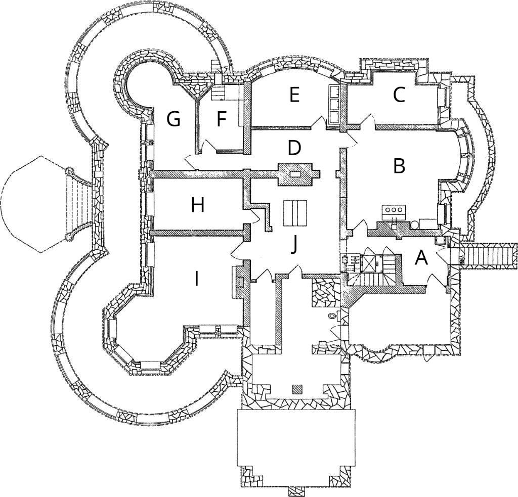 Mansion Belowstairs Floorplan