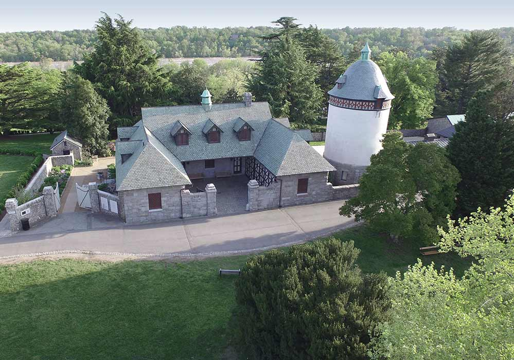 Button Carriage House Water Tower Aerial C Scott Strimple