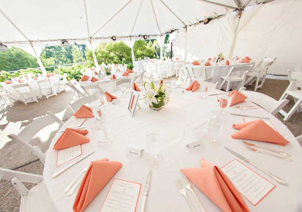 Button Catering Tables Tent