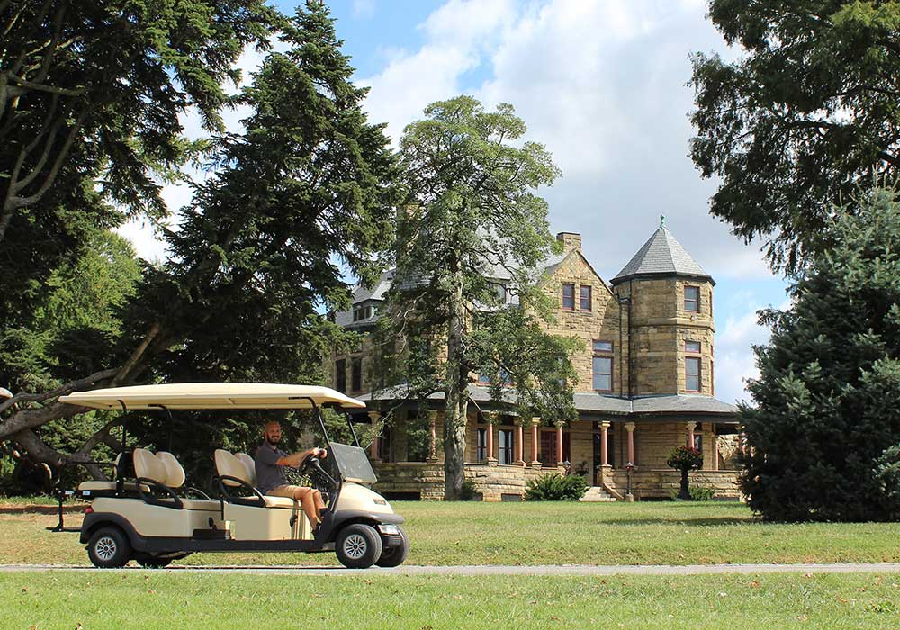 Button Golf Cart Tours Mansion