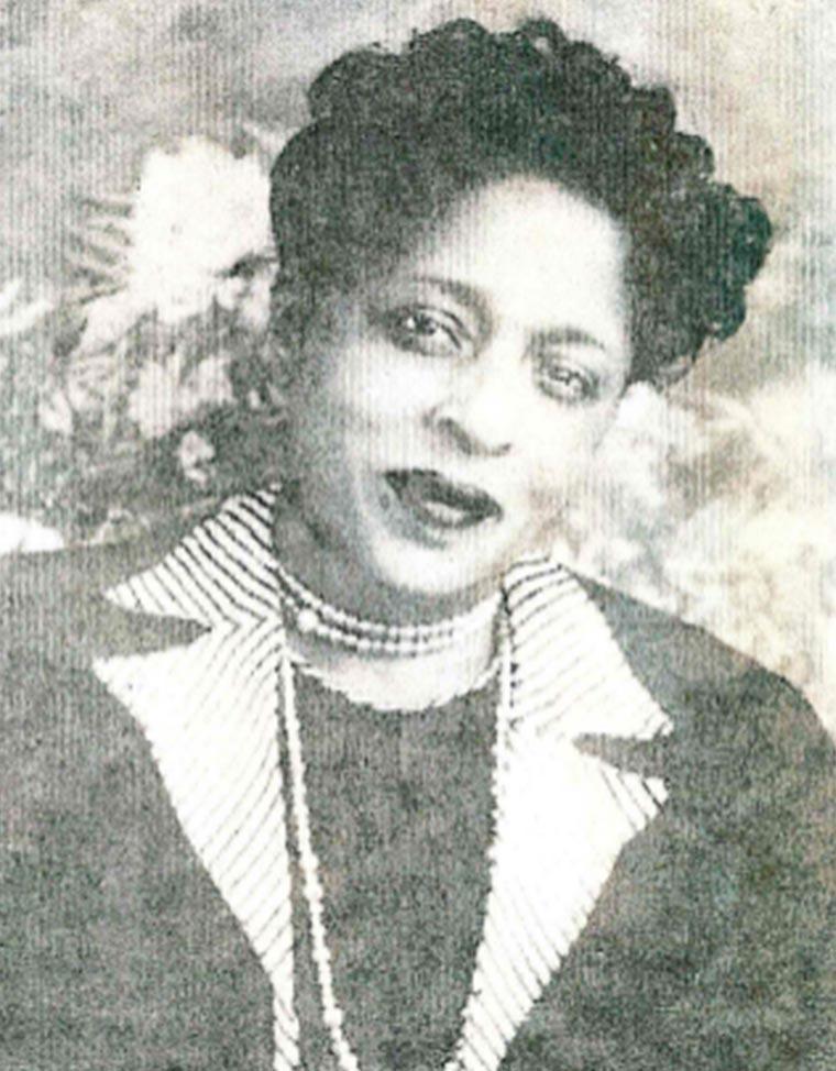 Frances Walker ca. 1930s. Photo courtesy of her daughter, Doris Walker Woodson.