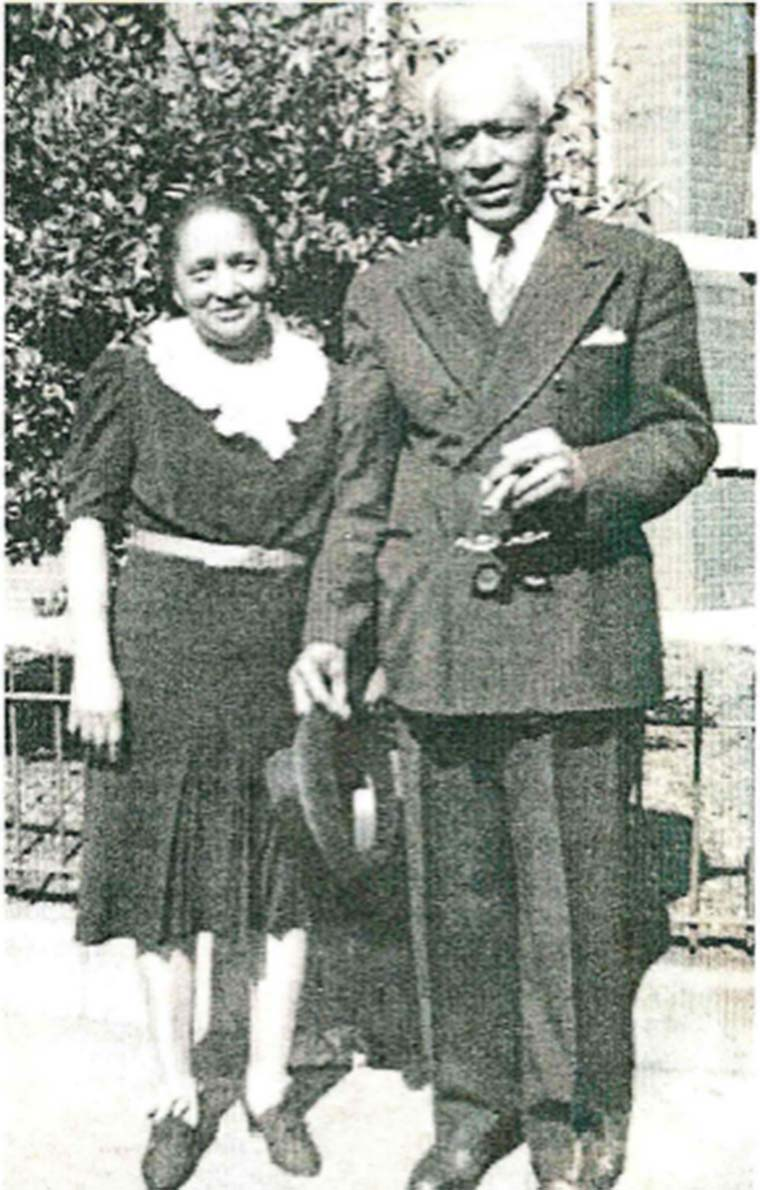 Joseph J. Walker, ca. 1940s pictured with his wife, Estelle. Photo courtesy of their nephew, Sylvester Walker.