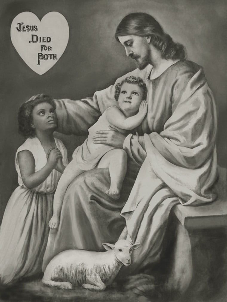 Button William Dilworth Jesus Died For Both Print Courtesy Harold P. Bailey