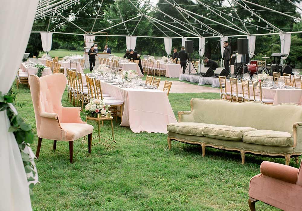 Button CHL Wedding Tent Setup