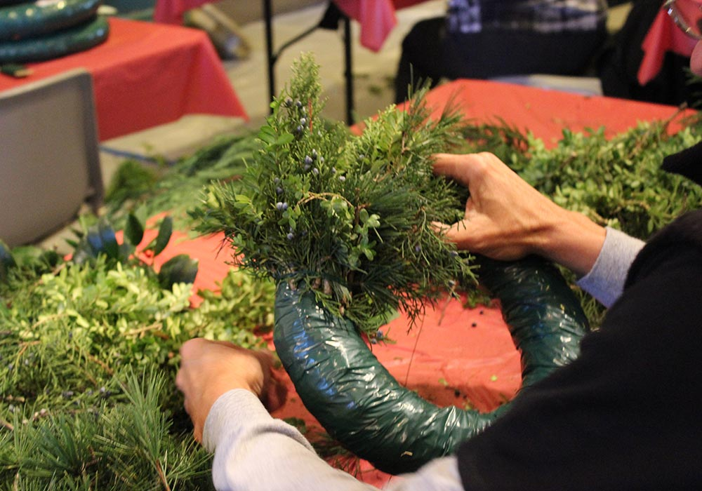 Button Wreath Making