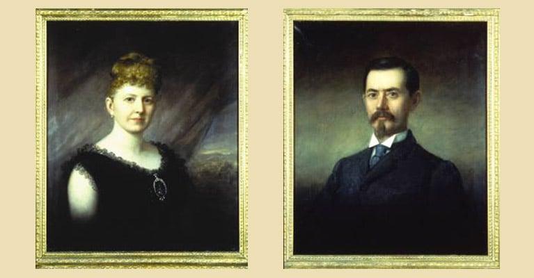 James H. Dooley and Sallie May Dooley Portraits